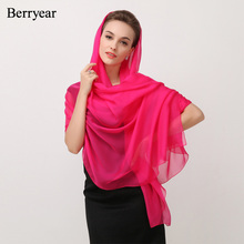 ФОТО berryear 100% natural silk scarves for women rose head scarf for hair girl shawls