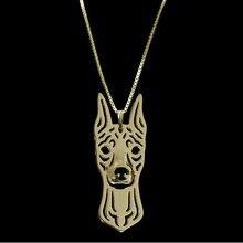 Миниатюрное ожерелье с подвеской в виде собаки doberman pinscher