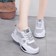 Купить с кэшбэком Lightweight Women Running Shoes Breathable Mesh Women Shoe Lace Up Women Sneakers Comfort Zapatillas Mujer Platform Shoes Women