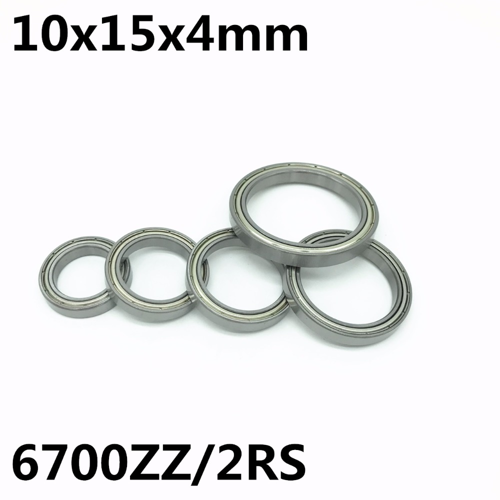 50pcs 6700ZZ 6700-2RS ultra-thin deep groove ball bearings 10x15x4 mm High quality 61700ZZ 6700 6700Z <font><b>6700RS</b></font> image