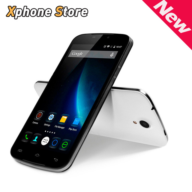 In Stock DOOGEE X6 5.5 inch Android 5.1 8G BROM 1GB RAM MT6580 Quad Core 1.3GHz Support Dual SIM / GPS / Play Store Cell Phone
