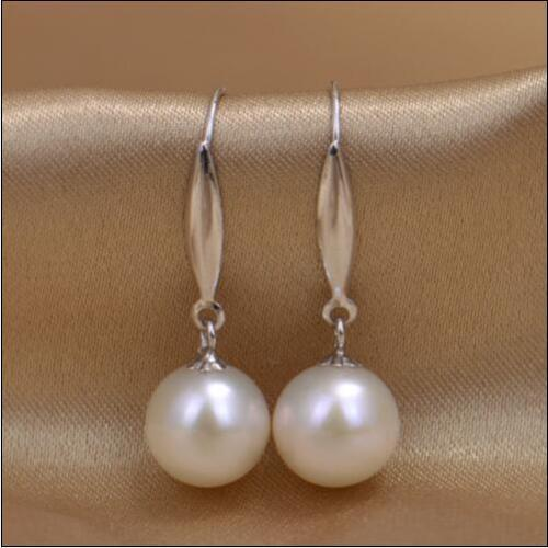 AAA+10mm perfect round Australia south sea Pearl Earrings  >>>girls  for women Free shipping AAA+10mm perfect round Australia south sea Pearl Earrings  >>>girls  for women Free shipping