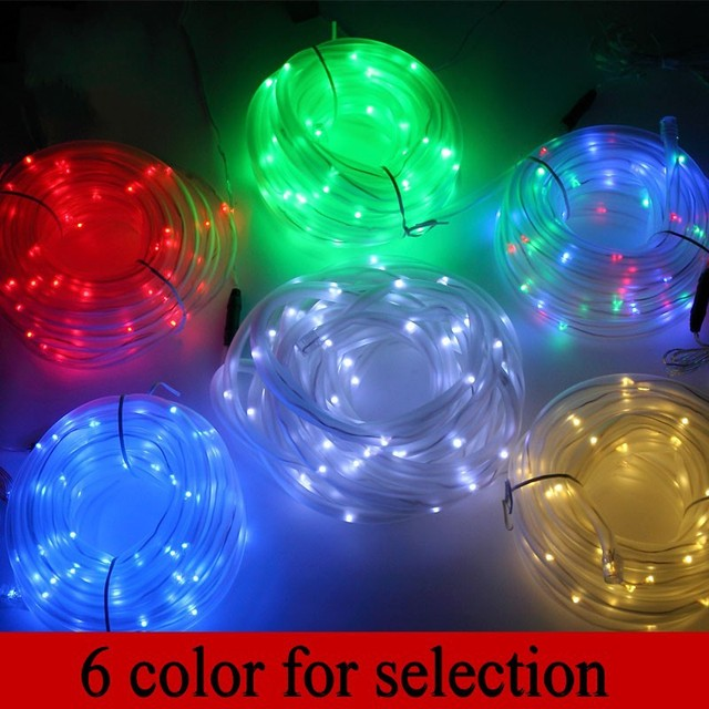 Retailsale Freeshipping,solar tube  string light,100LED solar powered garden neon rope light for Christmas decoration