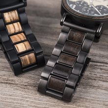 BOBO BIRD Luxury Brand Relogio Masculino Wood Stainless Steel Men Wristwatch Male Chronograph Timepiece Gift J-R25
