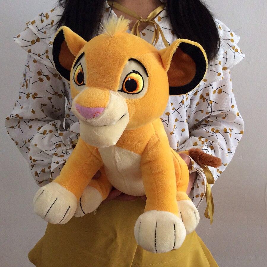 2019 Nova 30 cm O Rei Leão Simba Suave crianças Bichos de pelúcia Crianças Brinquedos de Pelúcia boneca 11.8 ''Jovem Simba presentes do brinquedo Frete Grátis