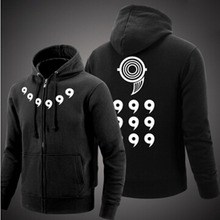 Naruto Men Thick Zipper Hoodie Sweatshirts