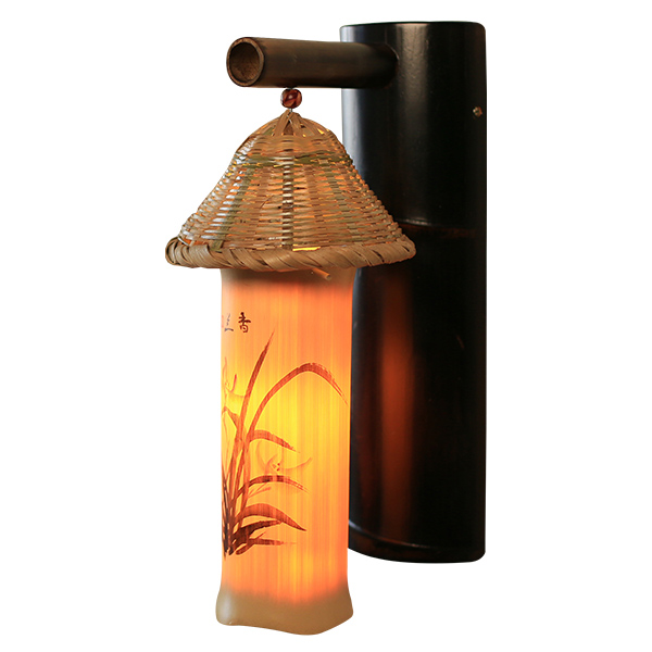 Chinese garden Wall Lamps simple hotel restaurant balcony bamboo lamp decoration art study hall lamps LU71469