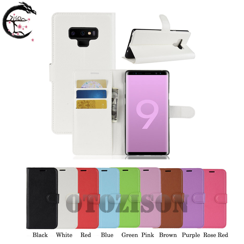 Leather <font><b>Case</b></font> for Samsung Galaxy Note 10 pro 10+ Flip Cover 9 8 7 6 5 4 3 neo Card Pocket Covering Note10+ Note edge <font><b>N915</b></font> Casing image