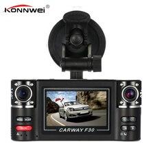 Тире Камера Видеорегистраторы для автомобилей 2.7 «TFT ЖК-дисплей HD 1080 P поворачивается Двойной объектив тире Камера цифровой видео Регистраторы видеокамера Ночное видение