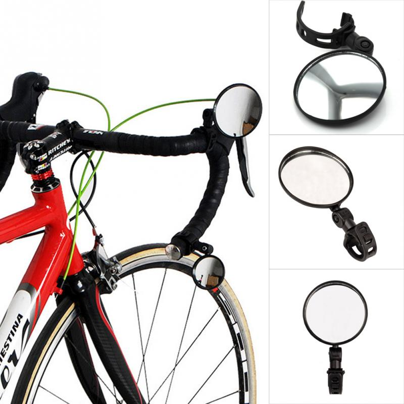 High Quality ABS Handlebar End Bicycle Mountain Bike Rearview Mirror 180° Rotate