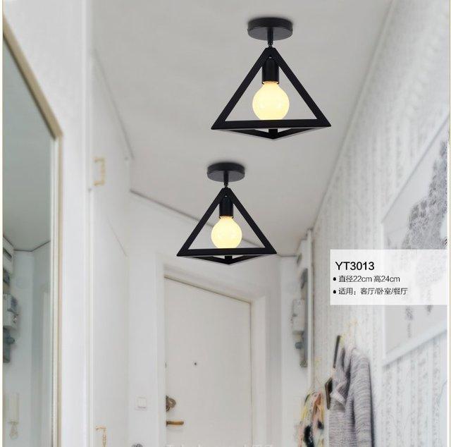 E27 Metall Industriellen Stil Schwarz Eisen Hngen Deckenleuchten Wohnzimmer Lichter Led Deckenleuchte Moderne Kurze