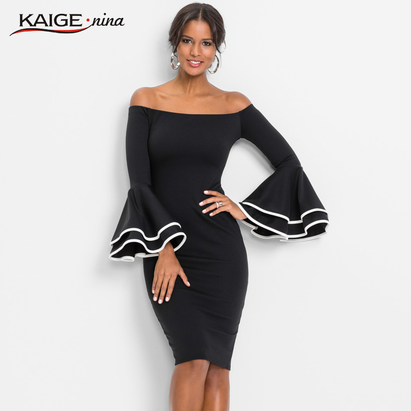 KaigeNina New Fashion Hot Sale Women solid Natural Simple Printing Cloth slash Neck Mid-Calf lace knitting cotton Dress 18007 a