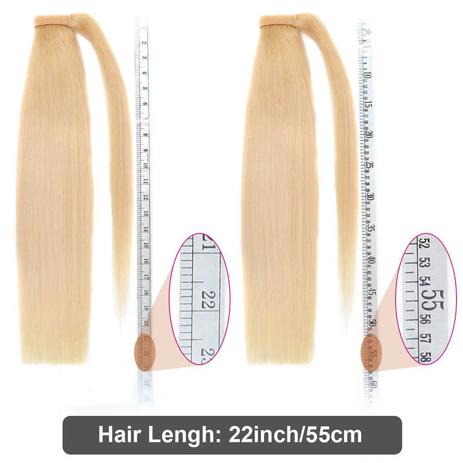 Ali-Beauty Human Hair Ponytail 60g 100g 120g Wrap Around Ponytail wig Brazilian 100% Machine Remy Human Hair Extensions