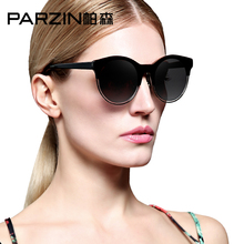 PARZIN Big Frame TR90 Women Colorful Summer Fashion Sunglasses Vintage Steampunk 2017 Brand Spectacles With Logo Box 9825