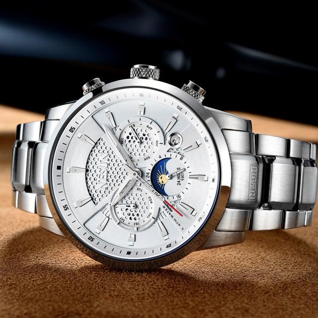 NESUN Luxury Brand Watch Multifunctional Display Automatic Mechanical 3