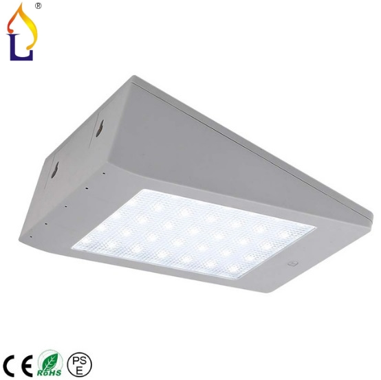 10pcslot 4W Solar Power Wall Mounted Sensor Light LED Lamp