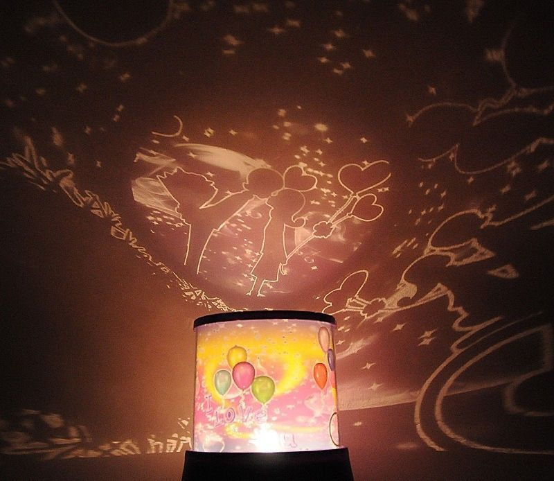 Romantic Sky Star Master Led Night Light Projector Lamp On