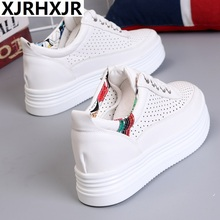 XJRHXJR Sneakers Women Breathable Wedge Shoes Platform Chunky Outdoor Ladies Dad Size 40 Basket Zapatos Mujer