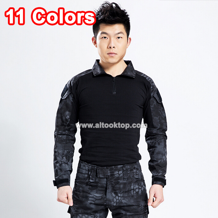 Men military camouflage clothes camo uniform multicam combat shirt acu paintball war game tactical clothing for hunting
