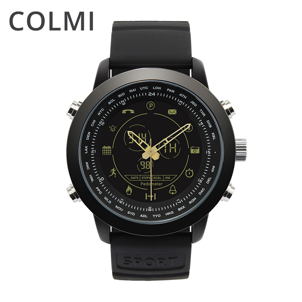 COLMI Smart Watch Waterproof Passometer Clock Bluetooth Fitness Stopwatch Activity Tracker For IOS Moto Huawei PK Garmina Fenix