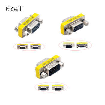 DB15 VGA Connector Mini Gender Changer Adapter 15 Pin Joint Serial Port M/M M/F F/F Converter кабель aten 2l 1005p c кабель для kvm 2 ps 2 m db15 m pc на 2 ps 2 m db15 f kvm 5м