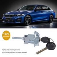 Car Left Door Lock Cylinder Zinc Alloy Left Door Lock Cylinders With 2 Key For E46 Car Accessories
