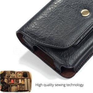 Image 5 - Chezvous 파우치 가죽 전화 케이스 아이폰 xs x 6 7 8 플러스 xs 최대 허리 가방 범용 벨트 클립 4.7 6.4 인치 삼성 화웨이