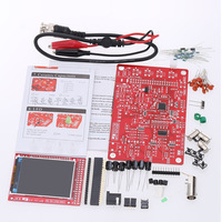Free Shipping 2.4 tft Assembled Soldered DIY Digital Oscilloscope Kit STM32 Tester with Acrylic Case Power