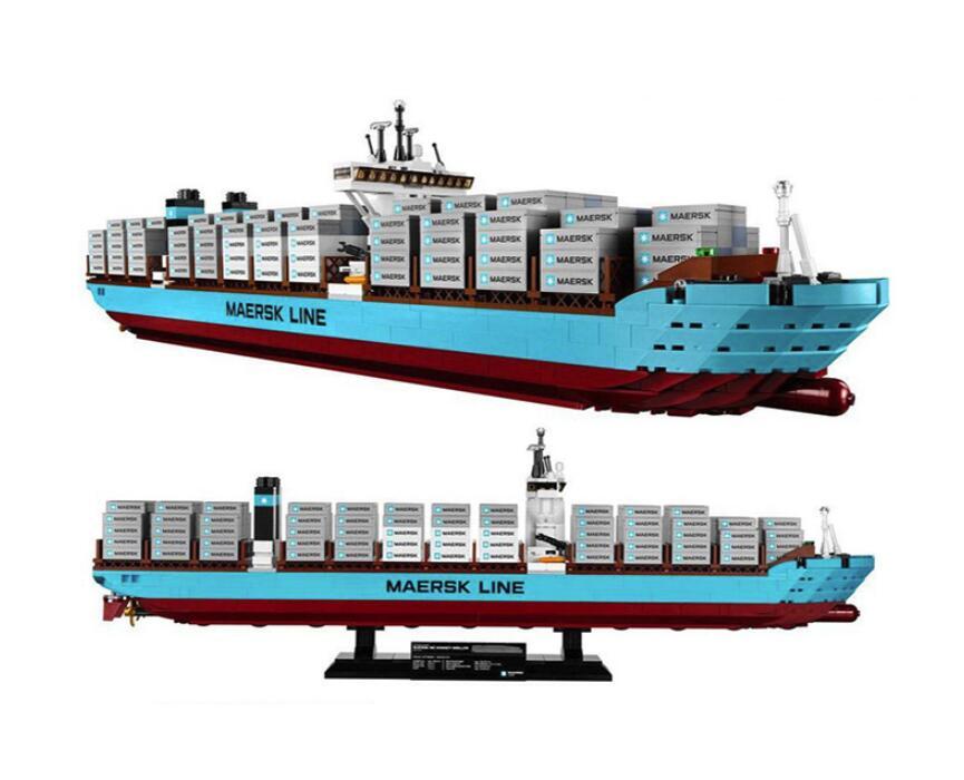 22002 1518Pcs Technic Series The Maersk Cargo Container Ship Set Educational Building Blocks Bricks Model Toys