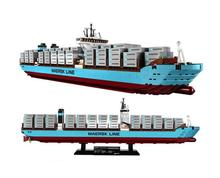 22002 1518Pcs Technic Series The Maersk Cargo Container Ship Set Educational Building Blocks Bricks Model Toys Gift 10241