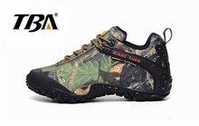 2017 tba Для мужчин водонепроницаемый холст Пеший Туризм обувь низкие сапоги противоскольжения Нескользящая дышащая обувь Хардинг-носить скальные туфли