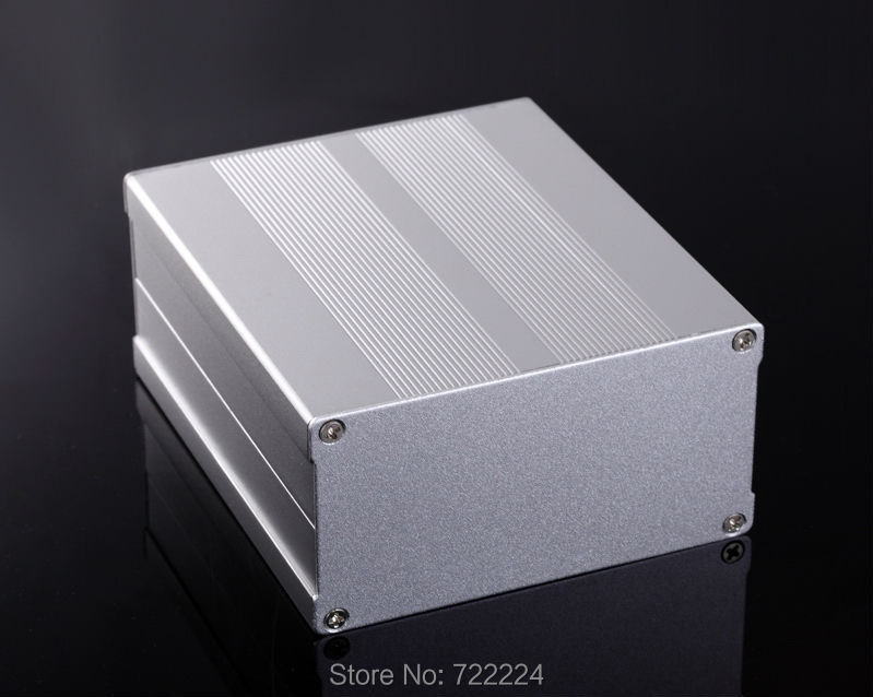 106*55*150mm silvery/black sand blasting aluminum diy enclosure 6063-T5 aluminum box for communication equipment GPS tracker box 1pc sand blasting oxidation black aluminum case diy project electronic line protection box 10 x 9 7 x 4cm promotion