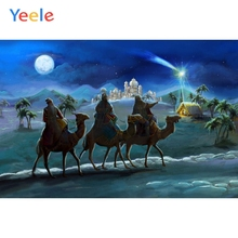 Yeele Night Moon Camel Team Pilgrims Castle Snow Mountain Wall Decorations Photography Backgrounds Backdrops For Photo Studio