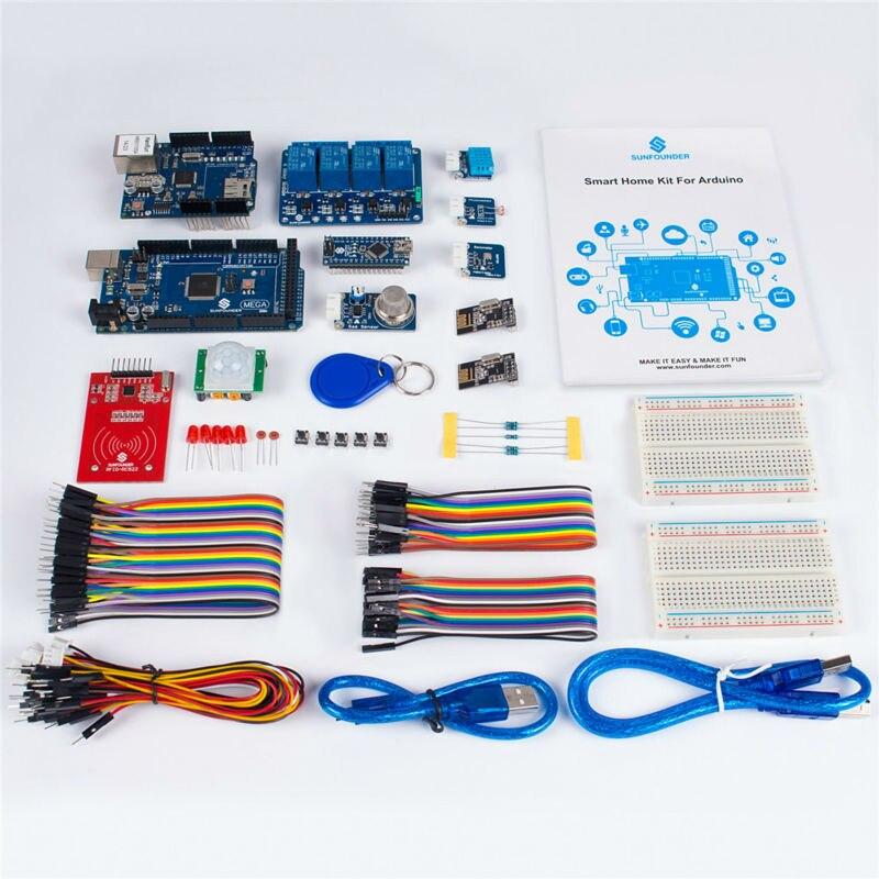 Image 2 - Sunfower умный дом IoT Интернет вещей стартовый комплект V2.0 для Arduino DIY проект сенсорные модули для интеллектуального домашнего дома-in Интегральные схемы from Электронные компоненты и принадлежности on AliExpress
