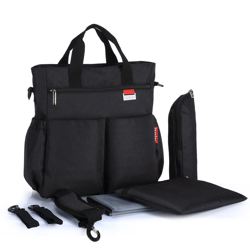 Baby Diaper Bag Stylish Black Style Maternity Mummy Nappy Bag Large Capacity Mother Nursing Handbag Baby Stroller Bag