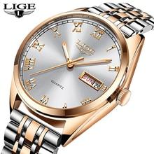 LIGE Mens Watches Top Luxury Brand Men Sport Watch Male Casual Full steel Date Wristwatches Men Quartz watches relogio masculino