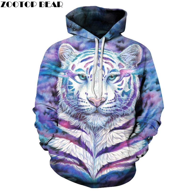 Colorful Tiger 3D Sweatshirts Men Women Hoodies Hooded Pullover Unisex Women Tracksuits Fashion Jackets 6xl Quality Outwear New