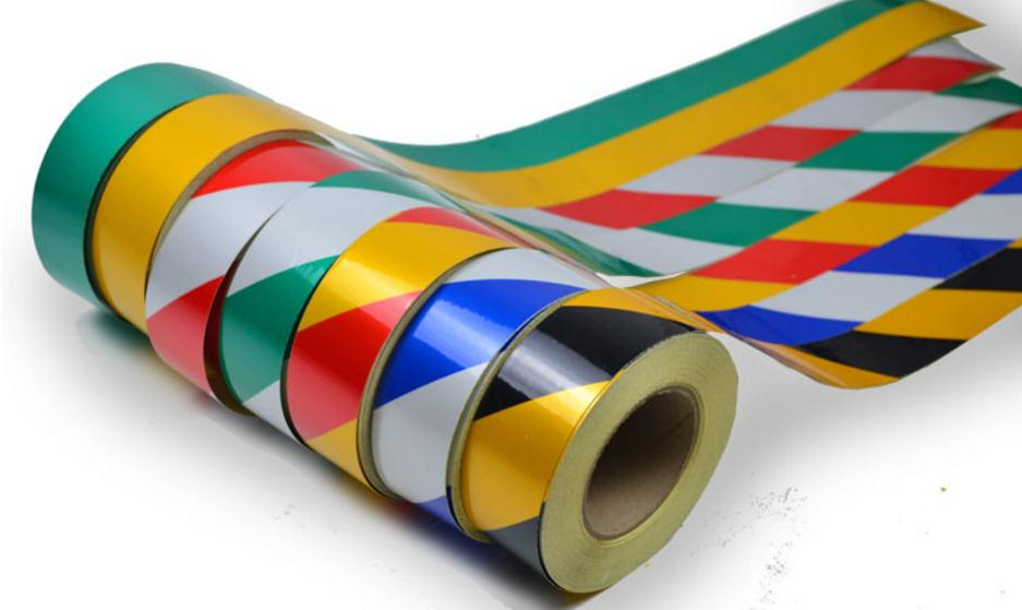 45meters, Width 5cm Low Reflective Traffic Warning Color Adhesive Tape, Safety Equipment Warning Tape With Glue
