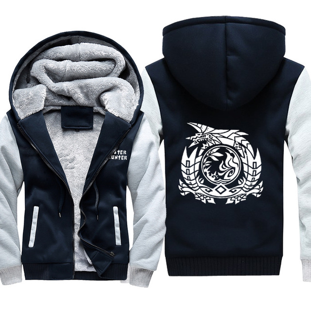 Monster Hunter World Thicken Warm Coat Hoodie