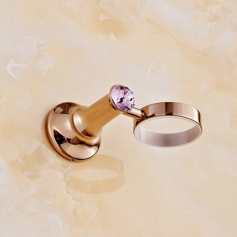 New Modern accessories Rose Gold toothbrush tumbler&cup holder wall mount bath product image