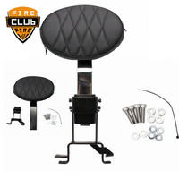 Adjustable New Plug In Driver Rider Seat Backrest Kit&Back Pocket For Indian Chief Classic Chieftain Roadmaster 2014 2017 2018