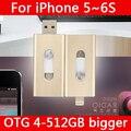 Горячего Металла Флешки 16 ГБ 32 ГБ 64 ГБ Молнии Pen Driver Otg Usb Flash Drive 128 ГБ 512 ГБ 1 ТБ 2 ТБ Для iphone 5/5s/5c/6 s/6 плюс/Ipad