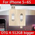 Hot Metal Pendrive 16GB 32GB 64GB Lightning Pen Driver Otg Usb Flash Drive 128GB 512GB 1TB 2TB For IPhone 5/5s/5c/6s/6 Plus/Ipad