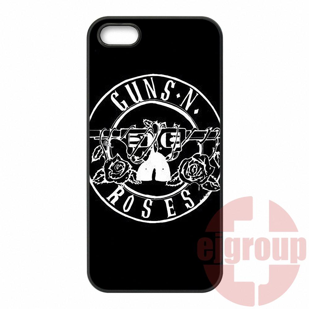 Guns N Roses Logo Cross For Apple iPhone 4 4S 5 5C SE 6 6S Plus 4.7 5.5 iPod Touch 4 5 6 Cover