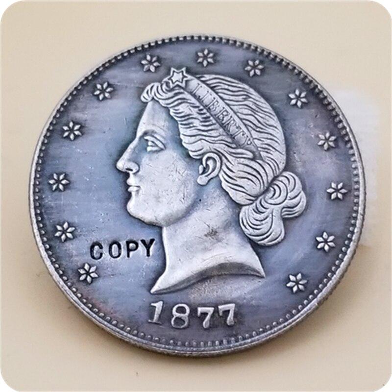 EUA 1877 50C Paquet Padrões Liberty Half Dollar COPIAR COIN