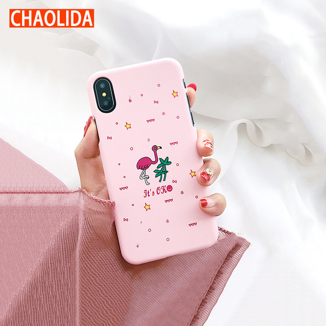 best sneakers 5c3d7 06d4b US $7.8 |CHAOLIDA Wholesale Pink Cute Covers PC Scrub Capa Celulars for  Apple Iphone X Handphone Case Accessories for Girls-in Half-wrapped Case  from ...
