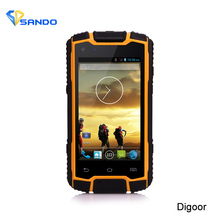 Original Rugged Phone IP68 Waterproof Phone Android Smartphone Quad Core 5MP UHF PTT Hunting Radio GPS Walkie Talkie 3G