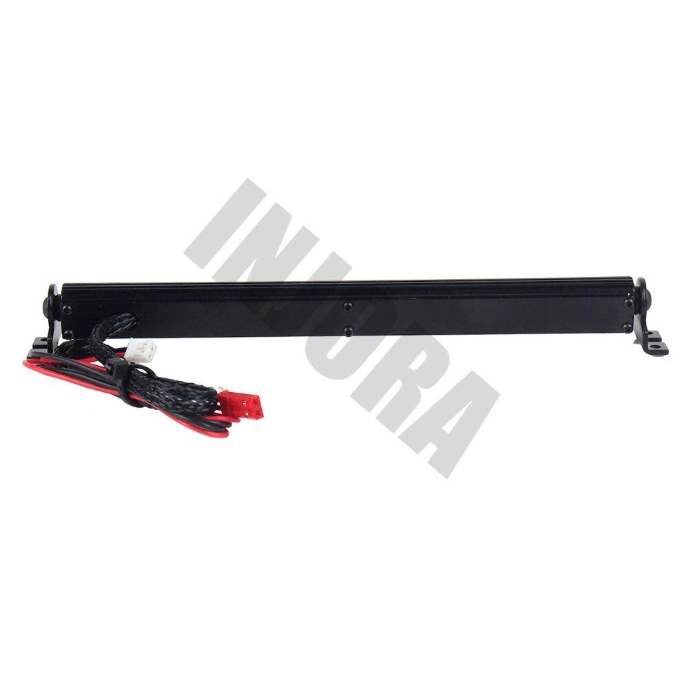 Image 4 - Trx4 металлическая Светодиодная лампа на крышу, световая панель для 1/10 RC Crawler Traxxas Trx 4 Trx 4 SCX10 90027 & SCX10 II 90046 90047rc4wd d90rc led light barrc led bar -