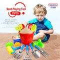 23 Unids/set Alta Calidad PP Plástico Bebé Arena Pala Herramienta de Juego Kids Bath Toy Busket para 3 Niños Del Verano Regalos de Juguetes al aire libre