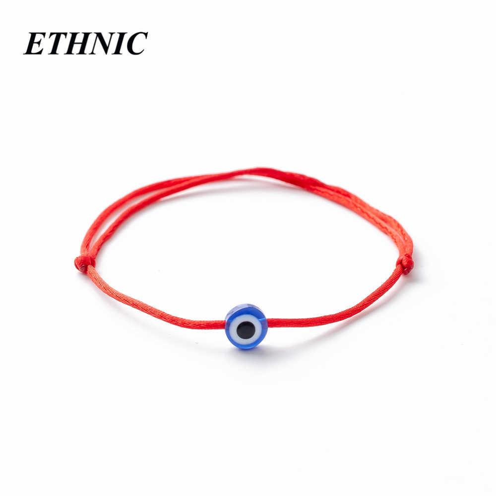 ตุรกีตาสีฟ้าชั่วร้าย Charms สร้อยข้อมือ Red String ด้ายเชือกสร้อยข้อมือสำหรับผู้หญิงผู้ชายเด็กด้ายสีแดง amulet เครื่องประดับ